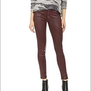 AG Coated skinny jeans plum color